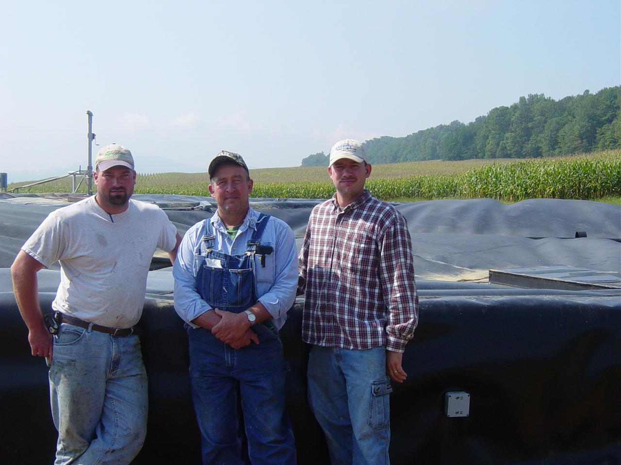Penn England Farm.   Ben Postles, Fred England & Dan McMonagle